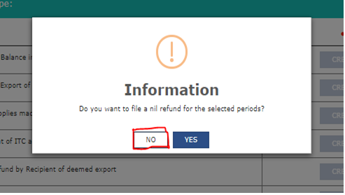 create tab, then selecting No