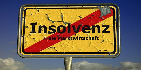 insolvency shield town sign note market economy