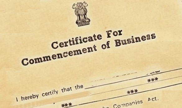 Bsuiness-Commencement-certificate