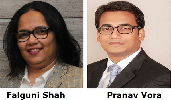 Falguni Shah and Pranav Vora