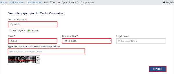 Search Taxpayers Opted In Out of Composition Image 2