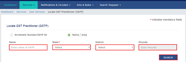 Searching a GST Practitioner Images 5