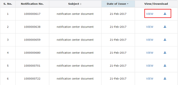Viewing GST Law Notification Image 2