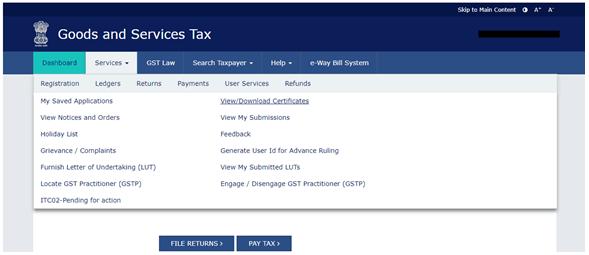 GST Registration Certificate Image 1