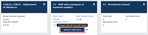 Importing Invoice-details Declared in e-Way Bill System into Form GSTR-1 Image 28