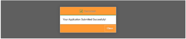Your Application Submitted Successfully