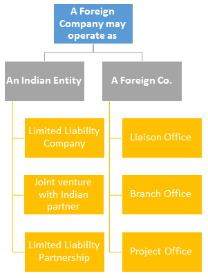 Options for foreign companies setting up business in India | TaxGuru