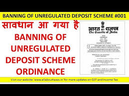 BANNING OF UNREGULATED DEPOSIT SCHEMES ORDINANCE, 2019