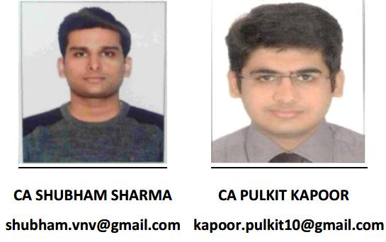 CA Shubham Sharma CA Pulkit Kapoor