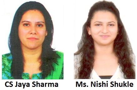 CS Jaya Sharma & Ms. Nishi Shukle