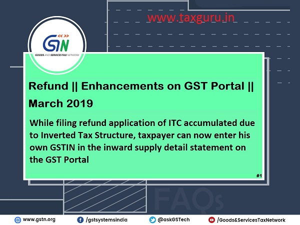 Enhancement of the GST Portal