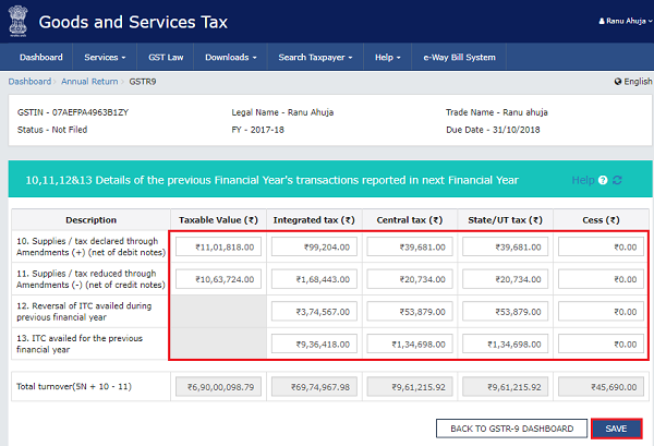 How to file Form GSTR-9 (GST annual return) images 3