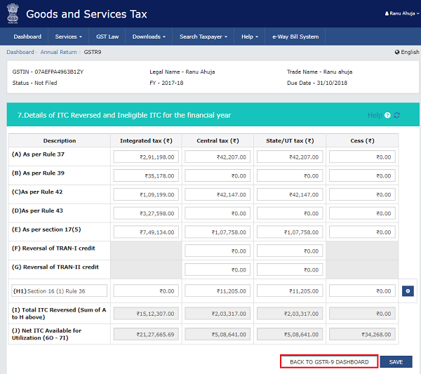 How to file Form GSTR-9 (GST annual return) images 38