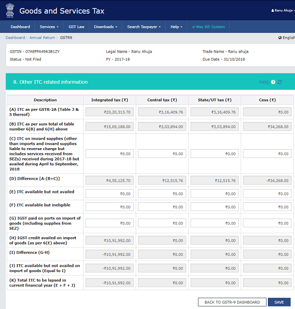 How to file Form GSTR-9 (GST annual return) images 41