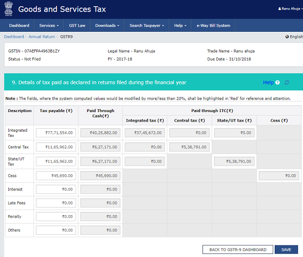 How to file Form GSTR-9 (GST annual return) images 47