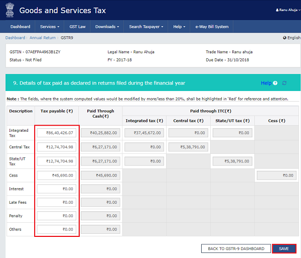 How to file Form GSTR-9 (GST annual return) images 48