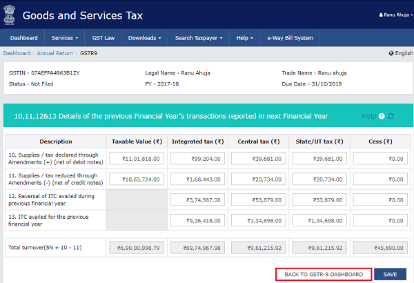 How to file Form GSTR-9 (GST annual return) images 5