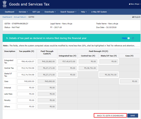 How to file Form GSTR-9 (GST annual return) images 50