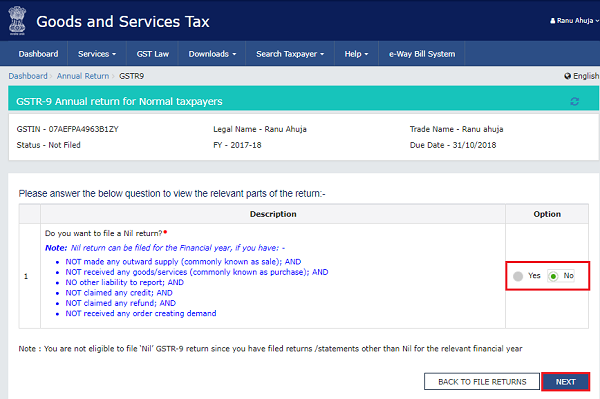 How to file Form GSTR-9 (GST annual return) images 6
