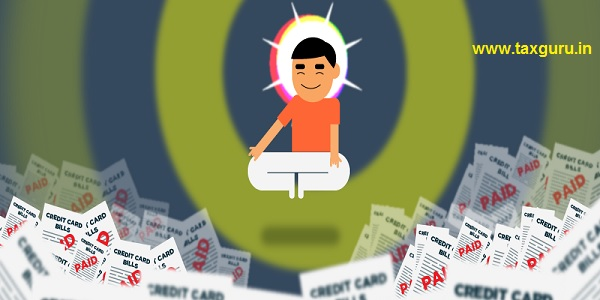 Credit Card Person Doing Meditation