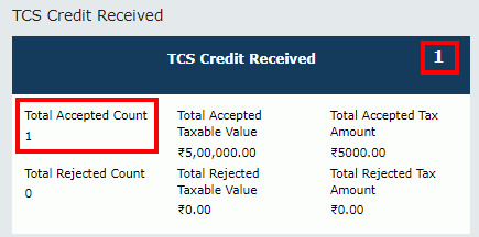 TDS and TCS Credit Received Image 22