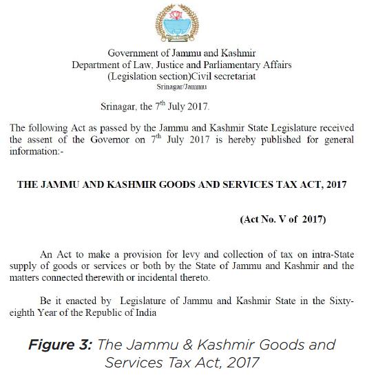 The Jammu & Kashmir Goods And Service Tax Act, 2017
