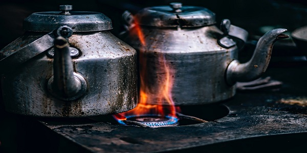 teapots pots cook stove flame gas heat burners