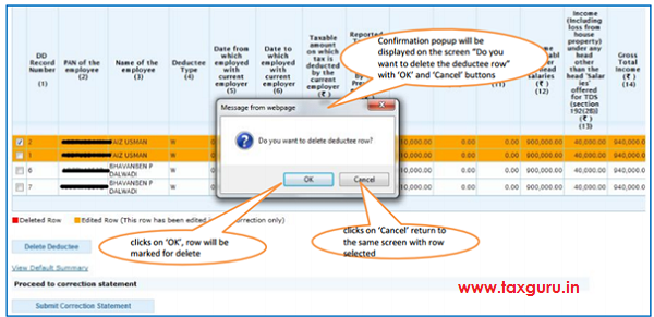 Add Delete Salary Detail –Annexure II Default Deductee Image 3