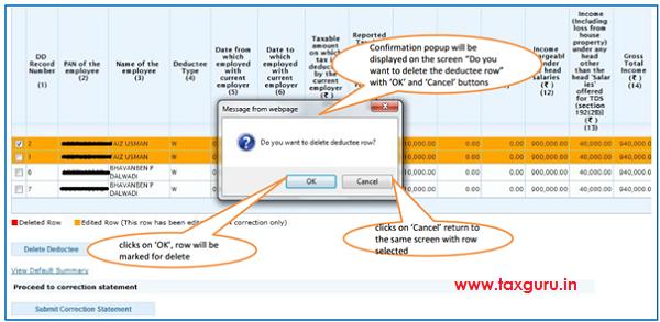 Add Delete Salary Detail –Annexure II Default Deductee image 4