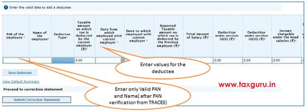 Add Delete Salary Detail –Annexure II Default Deductee image 7