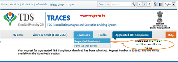 Aggregated TDS Compliance Download Request (Contd.) 4
