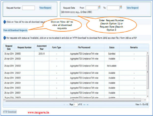 Aggregated TDS Compliance Download Request (Contd.) 5
