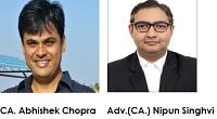 CA Abhishek Chopra- Adv CA-Nipun Singhvi.