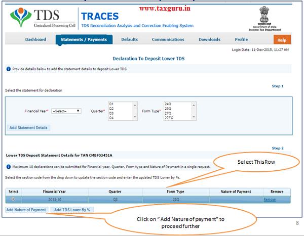 Declaration to deposit lower TDS image 3
