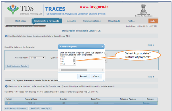 Declaration to deposit lower TDS(Contd.) image 4