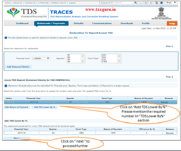 Declaration to deposit lower TDS(Contd.) image 5