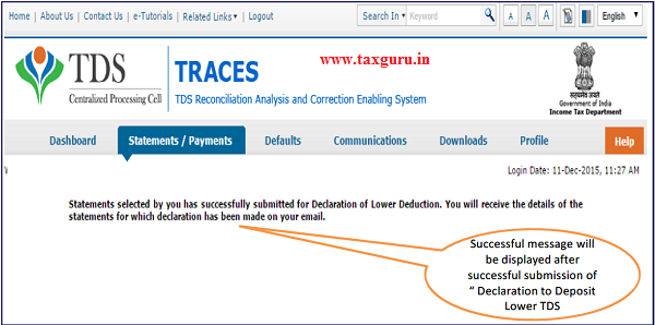 Declaration to deposit lower TDS(Contd.) image 7