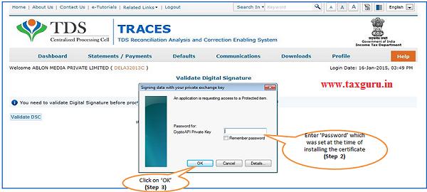 Digital Signature supported KYC Validation –Step 2 & 3
