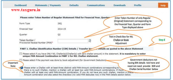 Digital Signature supported KYC Validation (Step 8)-KYC of the FY+Quarter+From Type selected in step 2 will be displayed