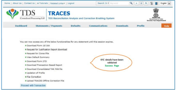 How To Download Conso File Of Tds Tcs Statements Regular