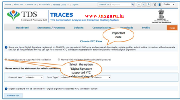 Digital Signature supported KYC Validation contd. (Step 1)