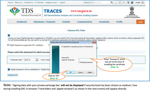Digital Signature supported KYC Validation contd. (Step 4 & 5)- Request for Default Resolution