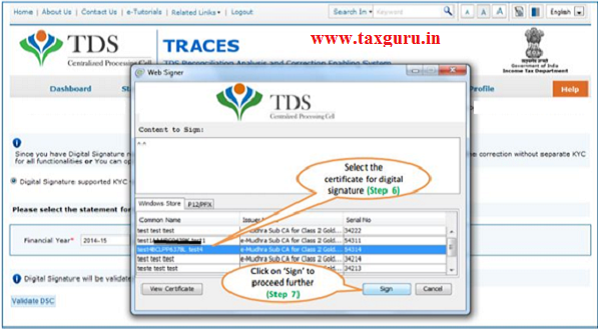 Digital Signature supported KYC Validation contd. (Step 6 & 7)