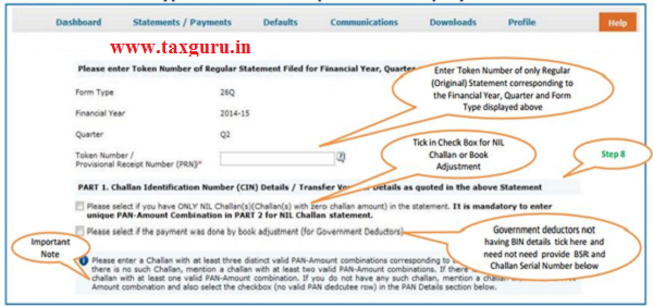 Digital Signature supported KYC Validation contd. (Step 8) -KYC of the FY+Quarter+From Type selected in step 2 will be displayed