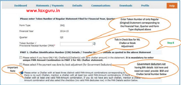 Digital Signature supported KYC Validation contd. (Step 8)- KYC of the FY+Quarter+From type selected in step 2 will be displayed