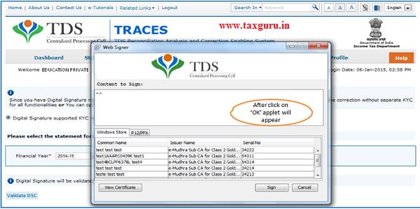 Digital Signature supported KYC Validation