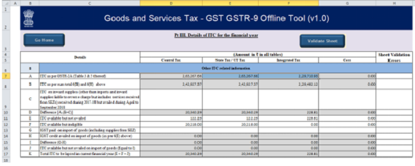 Erroneous Auto Population in column 8A of GSTR-9