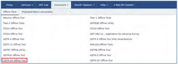 GSTR-9A Offline Utility Image 1