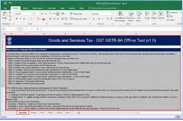 FAQs and User Manual – GSTR-9A Offline Utility | TaxGuru