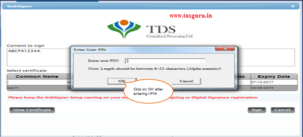 If User is coming through Bank Website then I-PIN window will open for entering I-PIN.
